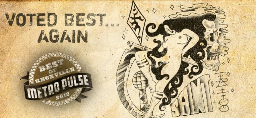 Saint tattoo voted knoxville 39 s best tattoo shop for Saint tattoo knoxville